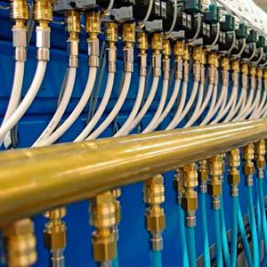 Conexões de latão para refrigeração