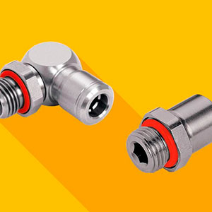 Conexões pneumáticas em aço inox